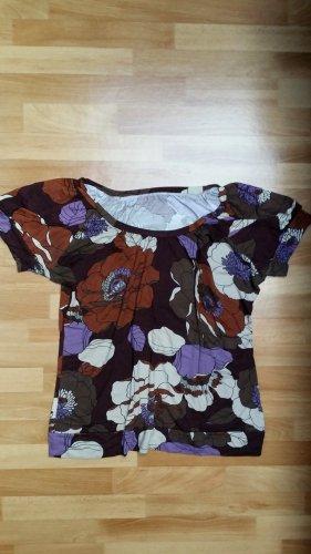Damen Oberteil/ Top/ Blumenmuster/ braun-lila-beige/ Gr. XL /C&A