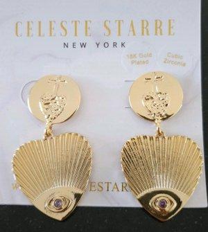 Celeste Starre Statement Earrings gold-colored-purple