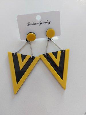 Damen Ohrringe in Gelb Schwarz Sehr schön