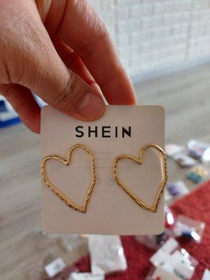 SheIn Orecchino a pendente oro-sabbia