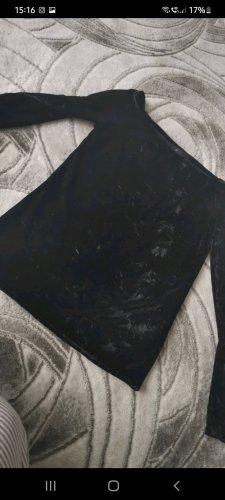 Kein Eénschoudershirt zwart