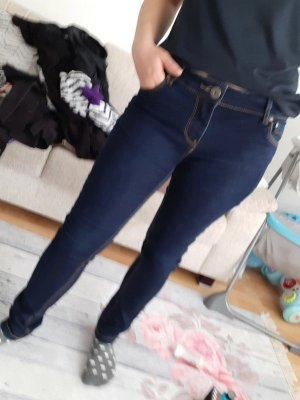 Be only Low Rise Jeans dark blue cotton