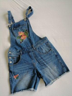 Only Bib Shorts blue denim