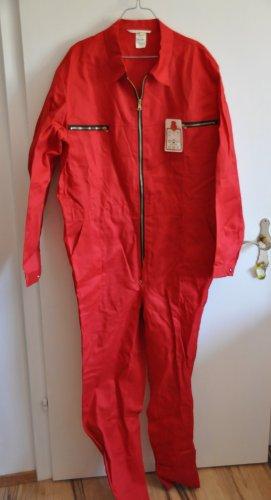 Tailleur-pantalon rouge foncé coton