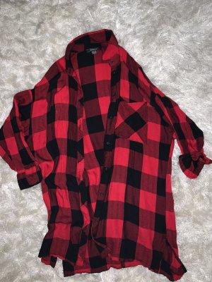 Primark Camisa de leñador negro-carmín