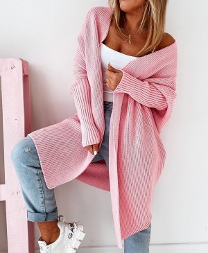 Knitted Coat light pink-pink