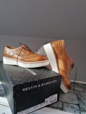 Melvin & hamilton Oxfords cognac-wolwit