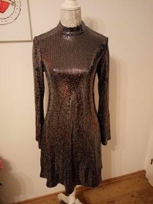 Damen Pailletten Kleid knielang gr 40 Orsay