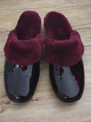 ANONYME Scuffs purple fake fur