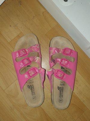 Pantuflas blanco-rosa