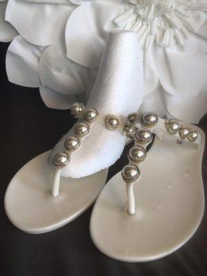 Damen Perlen Strand Sandalen Flip Flops 39