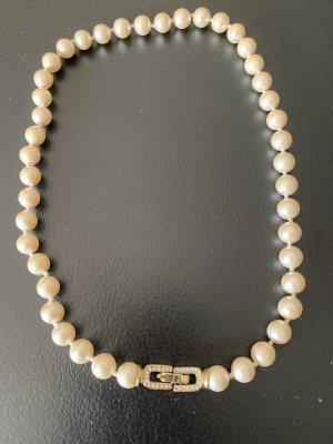 Pierre Lang Naszyjnik z perłami jasnobeżowy-kremowy