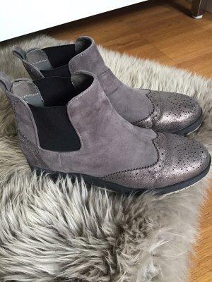 La Strada Platform Booties grey