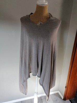 Ohne Poncho gris clair-gris brun