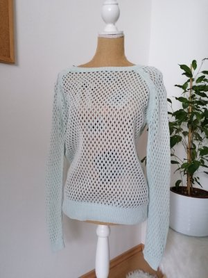 Blue Motion Crochet Sweater sage green