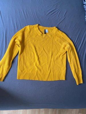 H&M Maglione lavorato a maglia giallo-oro-giallo