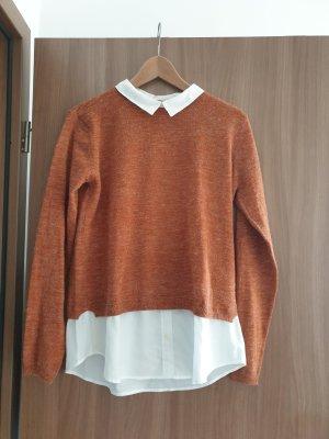 Esmara Jersey Twin-Set blanco-marrón