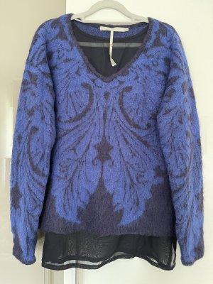 Passport Long Sweater blue-black