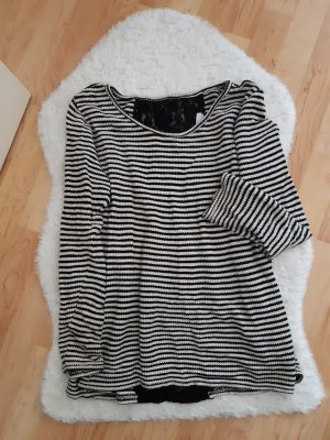 Be only Long Sweater black-white