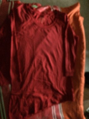 Basic Pull kimono rouge