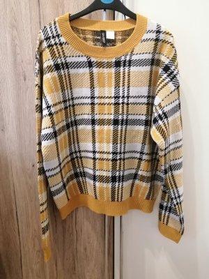H&M Wełniany sweter bladożółty