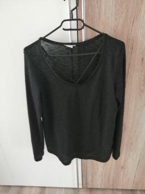 Amisu Cienki sweter z dzianiny czarny