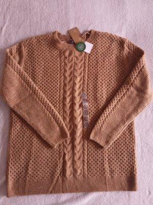 Yessica Warkoczowy sweter beżowy