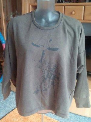 Damen Pullover Mädels Modisches Sweatshirt Gr. M/L in Oliv Grün