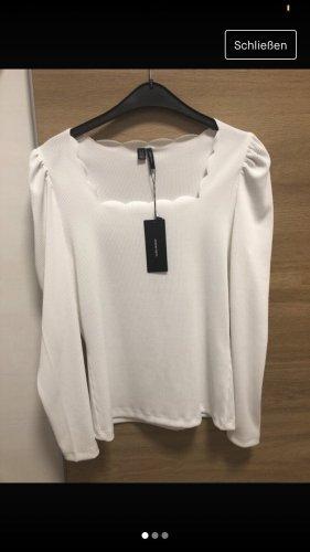 Vero Moda Cienki sweter z dzianiny biały
