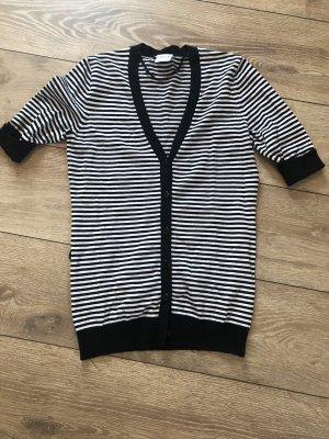 Biaggini Sweter bez rękawów z cienkiej dzianiny czarny-biały