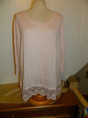 Colours of the World Fine Knit Jumper light pink-pink viscose