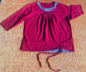 Boatneck Shirt red-neon red cotton