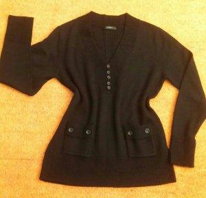 Damen Pullover Strick Wool edel Elegant Gr.40 in Schwarz von Cassis NW