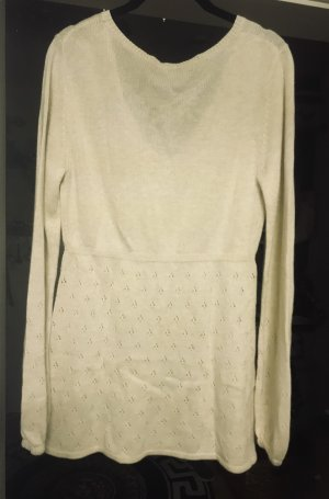 Damen Pullover Viskose Wolle Hellbeige L
