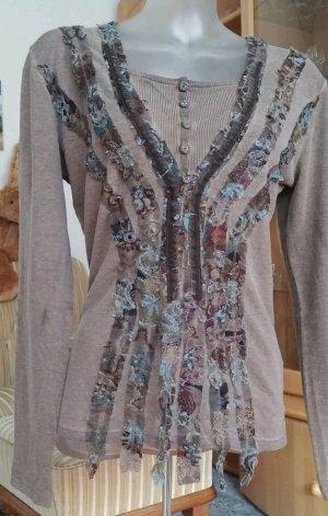 Damen Pullover Wollmix Spitzen Designer Gr.38 in Braun von LISA CAMPIONE