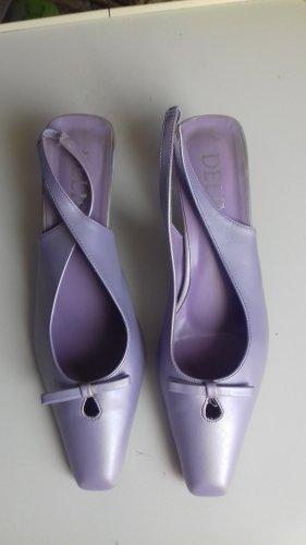 Slingback pumps paars-lila Gemengd weefsel