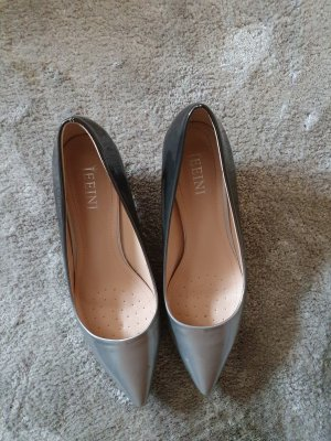 JEEINI Pointed Toe Pumps silver-colored