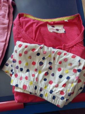 C&A Pijama rojo frambuesa-verde neón