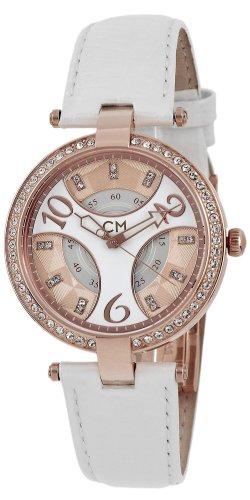 Carlo Monti Zegarek analogowy w kolorze różowego złota-biały