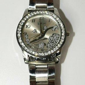 Unbekannte Marke Montre avec bracelet métallique argenté tissu mixte