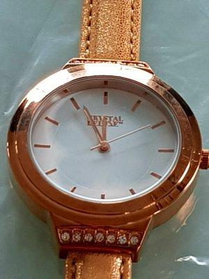 Zegarek analogowy złoto