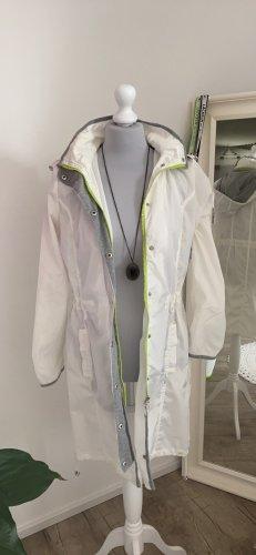 Carry Formal Kurtka przeciwdeszczowa biały-jasnozielony Poliester