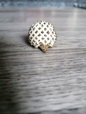 Ohne Statement Ring gold-colored-natural white