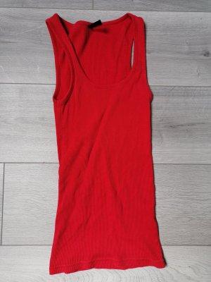 Fishbone Ribbed Shirt red