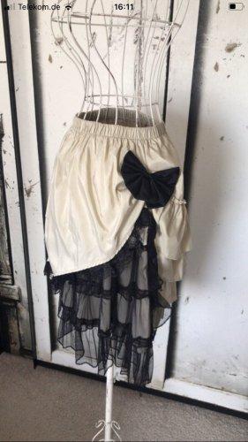 Warstwowa spódnica czarny-kremowy