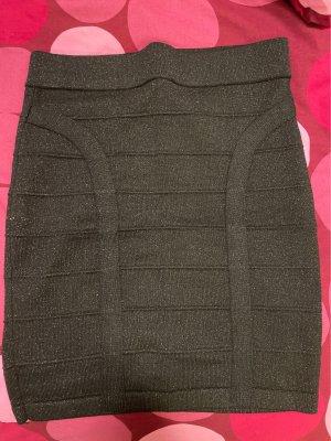 Tally Weijl Miniskirt black-silver-colored