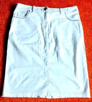 Lisa Campione Denim Skirt white cotton
