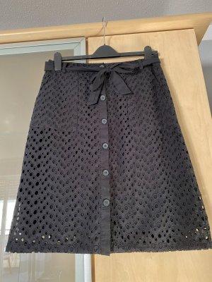 Damen Rock Esprit Gr 38 schwarz mit Bindegürtel wie Neu