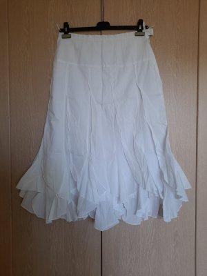 Heine Jupe asymétrique blanc coton