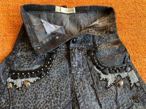Damen Rock Jeans Gothik GR.34 in Schwarz/Grau von ROSA & ROSE